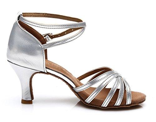 Silver Shoes Dance Womens Womens Ballroom Latin Dance nwYxPFHvqt