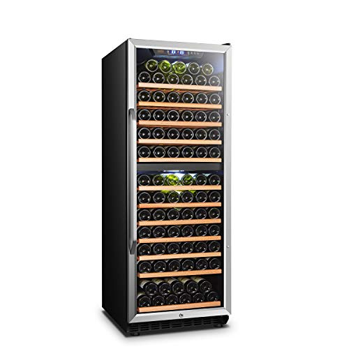 Lanbo Built-in Dual Zone Wine Cooler Refrigerator with Safety Lock, 138 Bottle