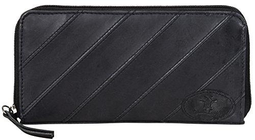 "Gusti Leder studio ""Irma"" portafogli borsa da sera banconote monete pratico vera pelle nero 2A130-29-12"