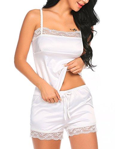 Avidlove Women's Sleepwear Satin Pajama Set Camisole and Shorts Sexy Lingerie 2 Piece Set