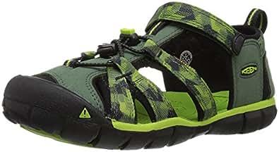 KEEN Toddler (1-4 Years) Newport H2 Black/Lime Green Sandal - 4 M US Toddler