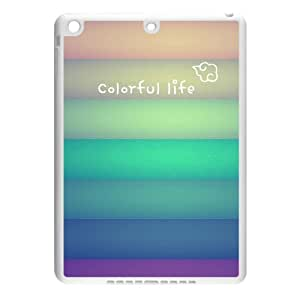 Colorful Life White Stylish Cover Case For IPad air2 (Ipad 6) with high-quality Plastic