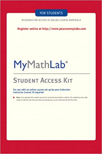 MyMathLab: Student Access Kit: Hall H Pearson Education