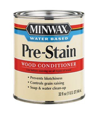 Minwax Pre Stain Wood Conditioner (Minwax Water-Based Pre- Stain Wood Conditioner Water Based Tintable White Tint Base 1 Qt)