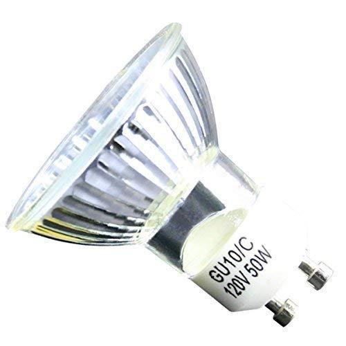 GU10 Halogen Light Bulb, MR16 Light Bulbs 120V/50W, UV Glass Cover & Dimmable, 450 Lumens Warm White, High Efficiency Halogen Flood Light Bulbs for Indoor (6 Pack)