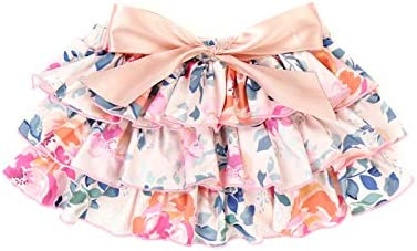 Anbaby Baby Girls Flower Ruffled Bloomers Toddler Underwear Diaper Cover with Headband