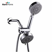 "5 Function Luxury Dual Shower Head System / Handheld Shower Head and Wall Mount Showerhead Combo 3-Way Rainfall Shower System , ABS Material with Chrome Finished / 60"" Flexible Hose"
