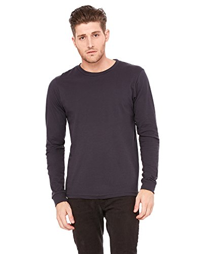 Bella Canvas Men's Jersey Long-Sleeve T-Shirt, XL, Dark Grey