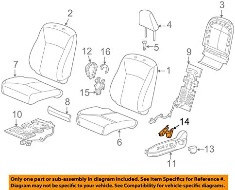 Honda Genuine 82521-T0A-A11ZA Seat Back Trim Cover Left Rear
