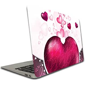"Macbook Pro (15 inch) Vinyl, Removable Skin - Valentine's ""With Love"""