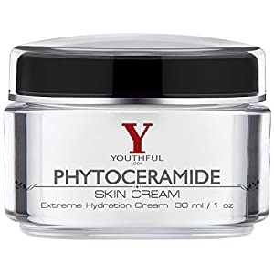 Youthful Look Phytoceramides Cream - Grand Opening Sale 50% Off - Best Anti Aging Skin Moisturizer Face Wrinkle Repairing Ceramide Retinol Palmitate Youth Complex - Dermology Revitol Cerave Compatible