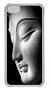 Custom design PC Transparent Case Cover For iPhone 5C DIY Durable Shell Skin For iPhone 5C with Buddha 2