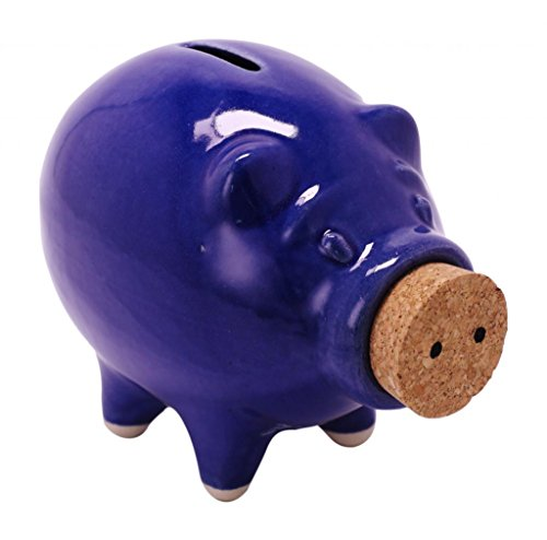 Pike Place Pigs Medium Piggy Bank Blue