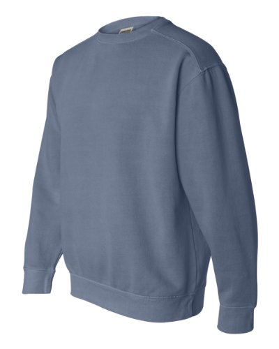 Comfort Colors 1566 9.5 oz. Garment-Dyed Fleece Crew - BLUE JEAN - M from Comfort Colors