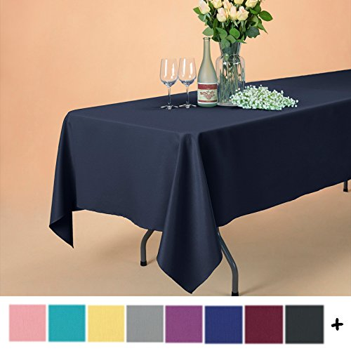 Remedios 60 x 102-inch Rectangle Polyester Tablecloth Table Cover - Wedding Restaurant Party Banquet Decoration, Midnight - Solid Rectangle