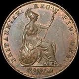 Almost Uncirculated 1851 English Half-Penny -- RARE!