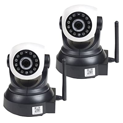 VideoSecu 2 Pack Wireless Baby Monitor Pan Tilt Network IP Security Cameras with Remote View Video Audio Day Night Vision AF4 by VideoSecu that we recomend personally.