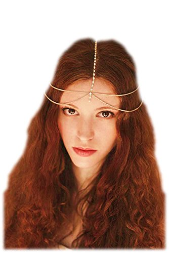 Ruby Red Teen Goddess Costumes (Hypnotique Gold-tone Head Chain)