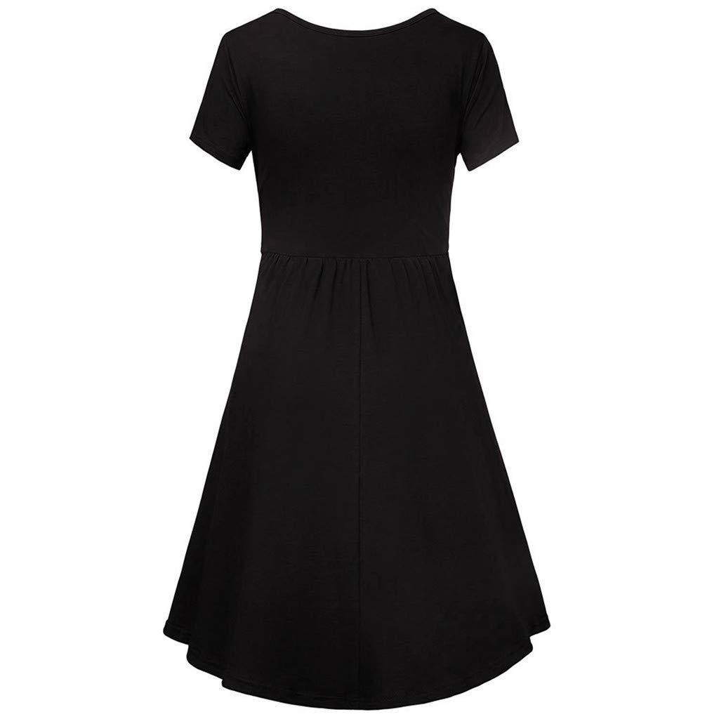 Daylin Newest Women Lady Mother Pregnant Maternity Nursing Solid Breastfeeding Summer Maternity Dress S~2XL