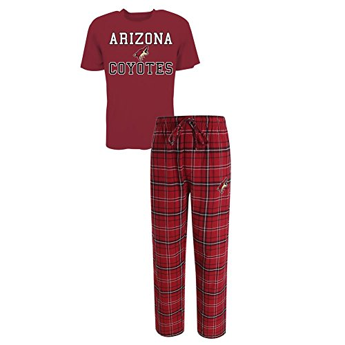 Concepts Sport Men's Arizona Coyotes Pajama Pants and T-Shirt Sleepwear Set (XX-Large) ()