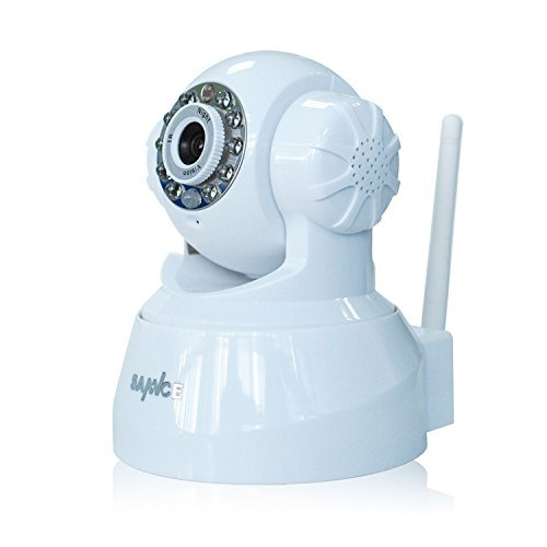 SANNCE IP7633JV P2P Technical Wi-Fi IP Camera with Phone Viewing and QR Code Scan Network Night Vision Monitor (White) [並行輸入品] B01NBQGAQV