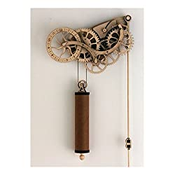 Handcrafted Wood & Metal Clock Kit DIY Laser Cut Wooden Wheeled Mechanical Pendulum Guaranteed Quality