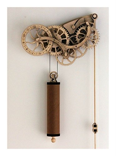 Handcrafted Wood & Metal Clock Kit DIY Laser Cut Wooden Wheeled Mechanical Pendulum Guaranteed Quality (Wood Clock Kits)