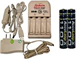 sunbeam battery charger - Battery Charger 3Hr For Aa/Aaa & 12V Car Plug & 4 Aaa 1100 Mah Acculoop-X Batteries (Low Discharge)