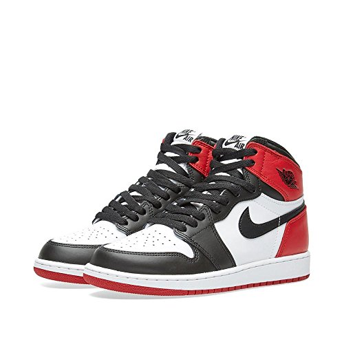 Jordan Big Kids Air Jordan 1 Retro High OG Blacke Toe (GS) (white / black-varsity red)
