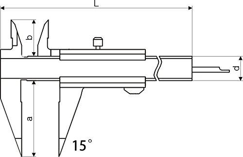 /con becco defilata /Mono Block/ /Campo Di Misura 100/mm/ CNC qualit/à piccolo calibro a corsoio/