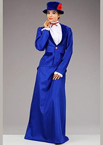 Magic Box Disfraz de niñera Victoriana Azul Estilo Mary Poppins ...