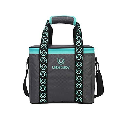 STOBOK Baby Bottle Feeding Milk Insulation Bag Fresh-Keeping Lunch Stroller Bag Aluminum Thickened Picnic Bag for Baby Care (Dark Grey) by STOBOK