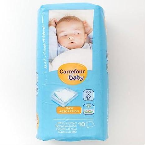 Carrefour bebé colchón 60 x 90 cm 10 Mats caso de 4 Total 40 alfombrillas: Amazon.es: Bebé