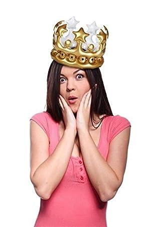 Corona hinchable - Queen for the day: Amazon.es: Juguetes y ...