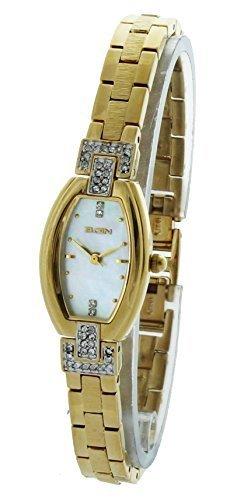 Elgin Crystal Watch (Elgin Ladies Watch #EG176 In Gold Tone With Crystal 18MM)