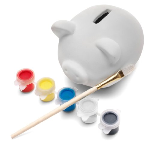 eBuyGB Paint Your Own Ceramic Pottery Piggy Bank / Money (Paint Your Own Piggy Bank)