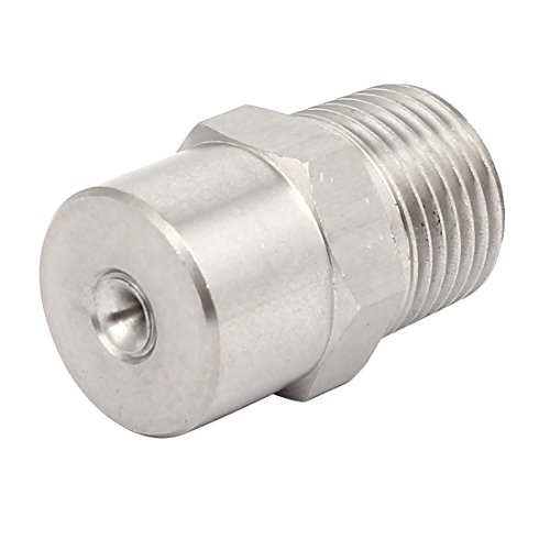 uxcell 1/2BSP 304 Stainless Steel Wide Angle Axial Whirl Full Cone Spray Tip