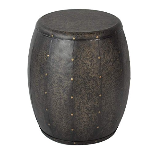 Cirque Metal Accent Drum Table Brown See below