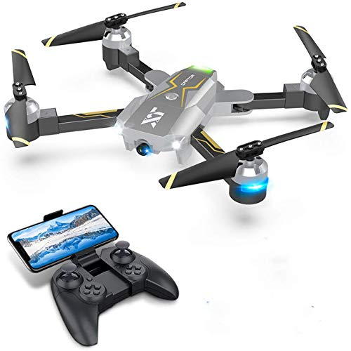 Drones with Camera for Adults - 120° Wide-Angle 720P HD CAM