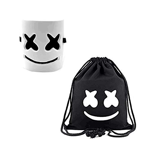 DJ Mask and DJ Backpack Music Festival Helmet Halloween Mask Prop Half Mask Halloween Costume Cosplay Mask -