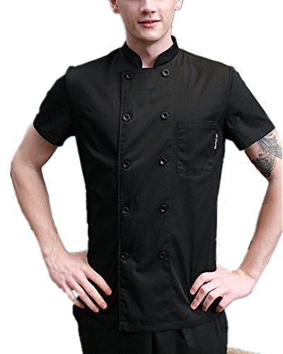 Boupiun Summer Short Sleeve Chef Coat Fashion Cool Unisex Chef Jackets by Boupiun