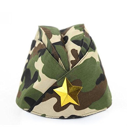 Russian Army Cap Tricorne Green Camo Bonnet Star Logo Women Sailor Military Stage Performance Dance Hats Chinese Boat Caps 15