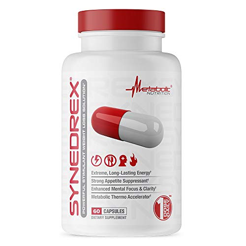 Synedrex by Metabolic Nutrition, Powerful Stimulant Weight Loss Solution 60 Capsules Dietary Supplement 1 Dose Daily