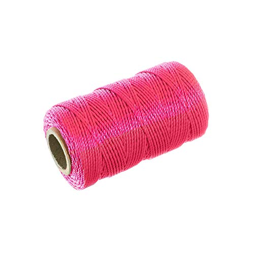 - Braided Nylon Mason Line #18 - Paracord Planet - Moisture, Acid, Oil, Rot Resistant - Twine Cord Masonry for Marine, Chalk, Crafting, DIY, Commercial, Gardening Use (250 Feet - Fluorescent Pink)