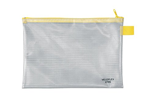 Veloflex 2705000 - Reißverschlusstasche PVC, DIN A5
