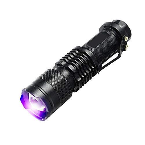 tactical flashlight -UV Ultra Violet LED Flashlight Blacklight Light 395 nM Inspection Lamp Torch