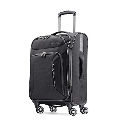 American Tourister 21 Spinner, Black (American Tourister Delite 21 Spinner Carry On Luggage)
