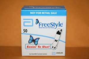 Freestyle Test Strips 50ct New Butterfly Tapered Tip (2013)