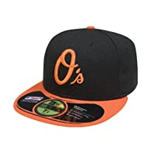MLB Baltimore Orioles Authentic On Field Alternate 59FIFTY Cap, Black/Orange
