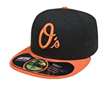 MLB Baltimore Orioles Authentic On Field Alternate 59FIFTY Cap, 7 3/4, Black/Orange